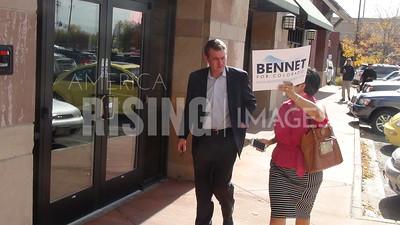 Michael Bennet At GOTV Volunteer Launch In Denver, CO