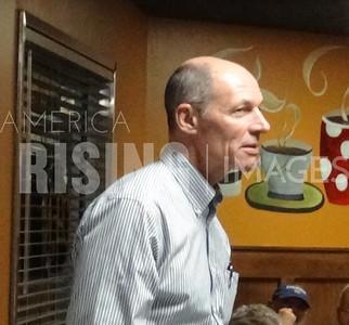 Michael Franken attends democratic meetup in Johnston, IA