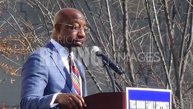 Raphael Warnock attends North Georgia Labor Council GOTV rally in Atlanta, GA
