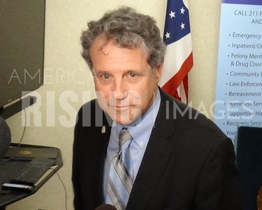 Sherrod Brown At Press Conference In Youngstown, OH