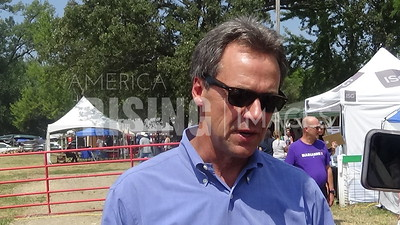 Steve Bullock attends pow wow in Tama, IA