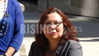 Tammy Duckworth At Cook County Democrats Registration Vision Announcement In Chicago, IL