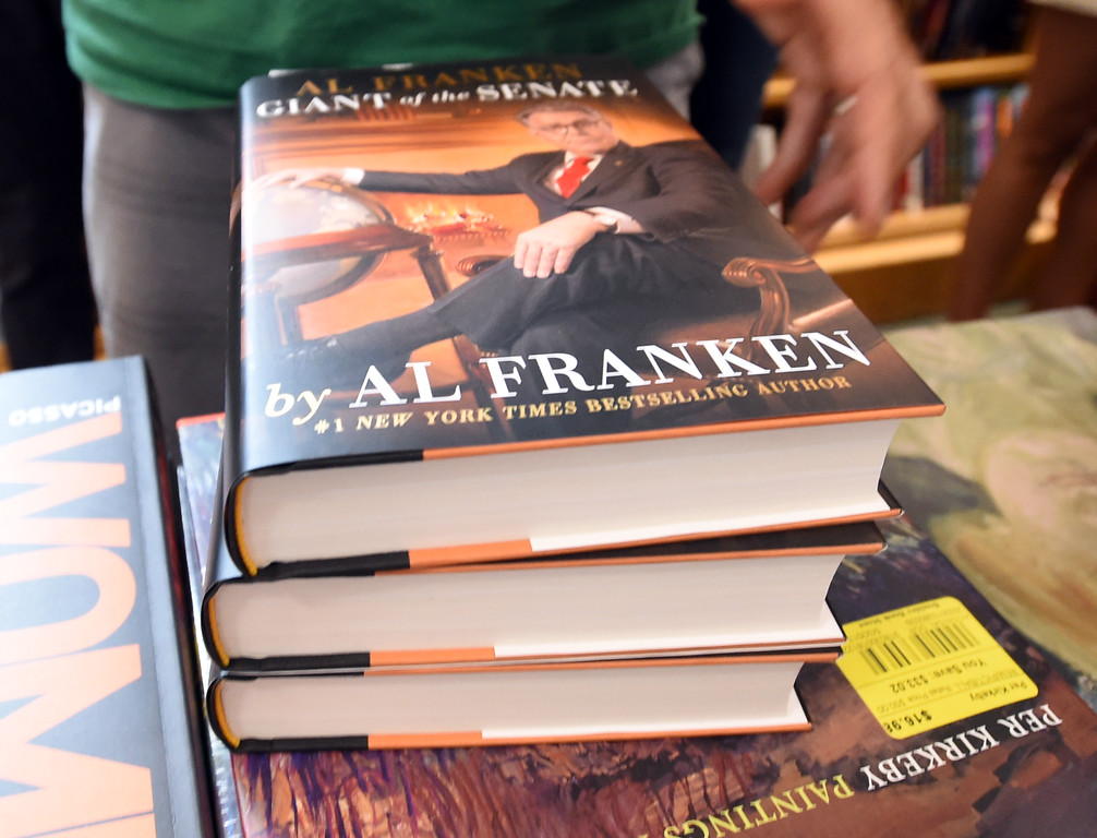 . Al Franken, Democratic Senator from Minnesota, spoke and signed books at the Boulder Bookstore on Saturday. For more photos and a video, go to www.dailycamera.com.  Cliff Grassmick  Staff Photographer June 17, 2017