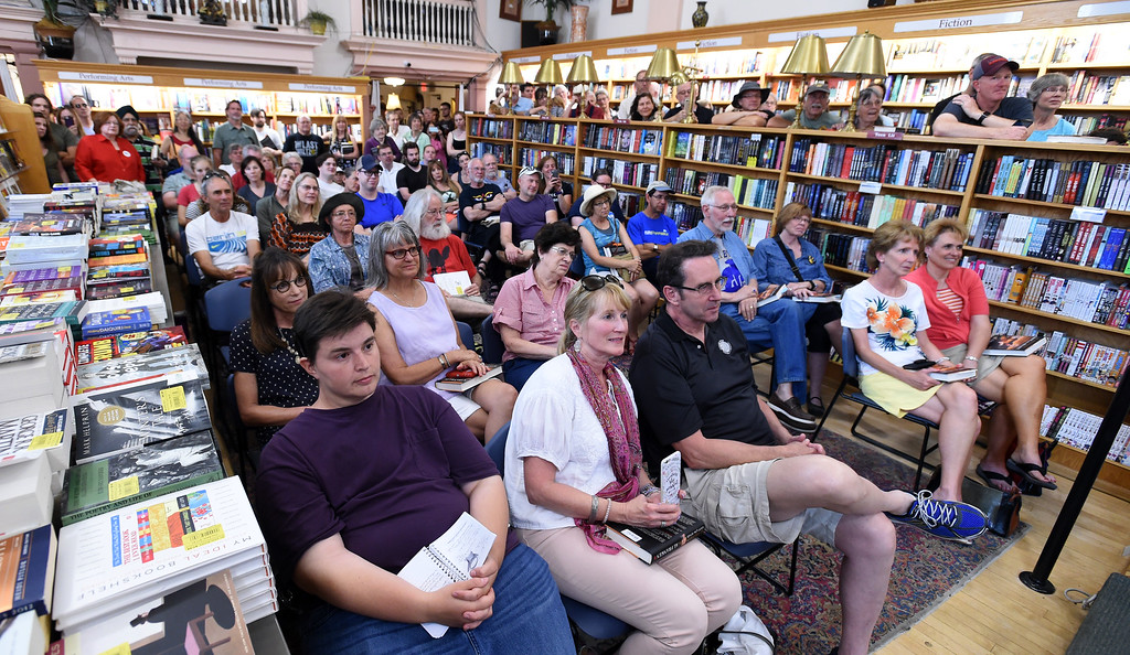 . The bookstore was packed. Al Franken, Democratic Senator from Minnesota, spoke and signed books at the Boulder Bookstore on Saturday. For more photos and a video, go to www.dailycamera.com.  Cliff Grassmick  Staff Photographer June 17, 2017