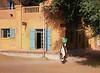 Rounding a Corner, Main Street, Podor, Senegal (Bronica 645)
