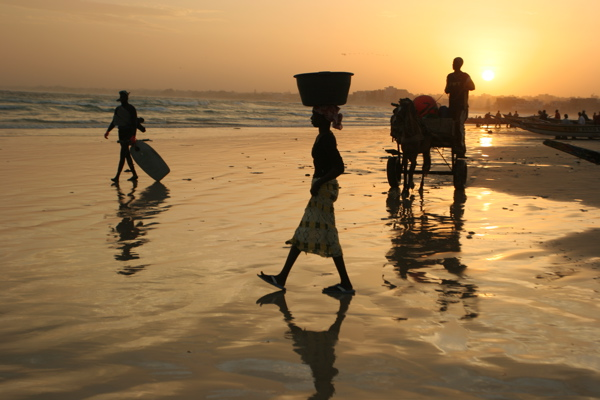 The beach at dawn in Yoff, a fishing village near Dakar.  I spent my first three days here.