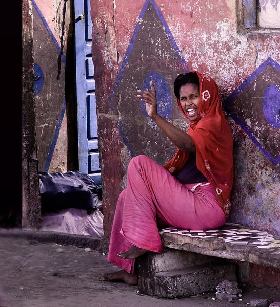 Woman on a Bench, Langue de Barbarie, St. Louis, Senegal