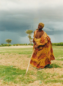 Aminata Ba, my Senegalese village Mom weeds her field during Nawet, the rainy season.