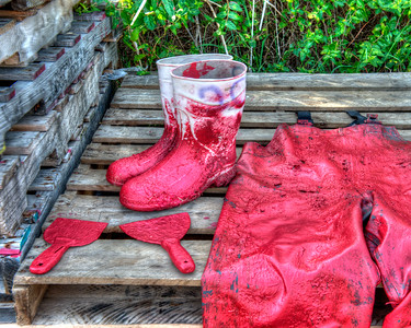 Red Pants with Boots 3239