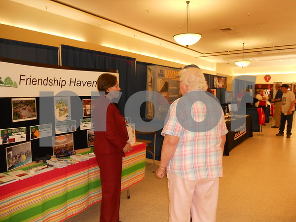 Linda Lauver of Friendship Haven speaks to seniors at the expo.