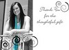 I can add a touch of color to your black & white images like in this thank you card.