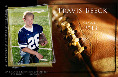 Border Effects were Applied to this Image of Travis making it Suitable for Announcements!