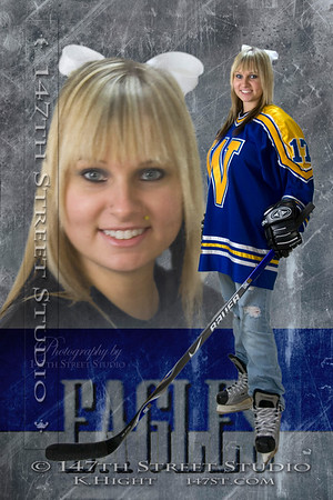 CASSANDRA'S STUDIO SESSION ~ This session of Cassy's included her special interests, mostly sports and cheerleading. She also wanted to try some special effect editing. These hockey outfits were my favorite!