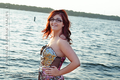 Here we are with Keesha again. This time we're waiting for the sunset.  The shimmers of her prom dress looking great against the water.