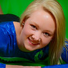 Senior portrait of girl on green screen