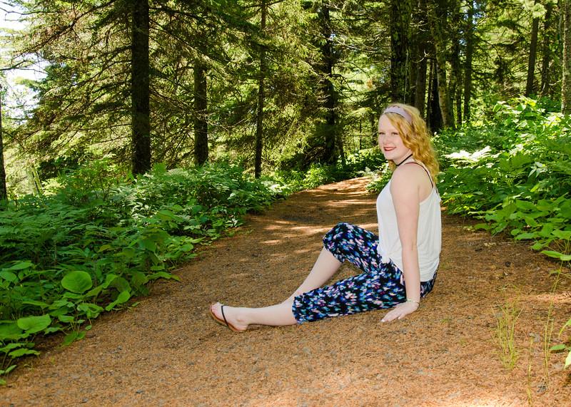 Senior portrait of girl on superior national trail
