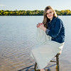 senior girl in lake photo