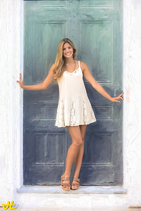 Lauren with Painted Door
