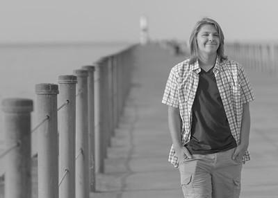 Jordan Pier Walk 01 B&W