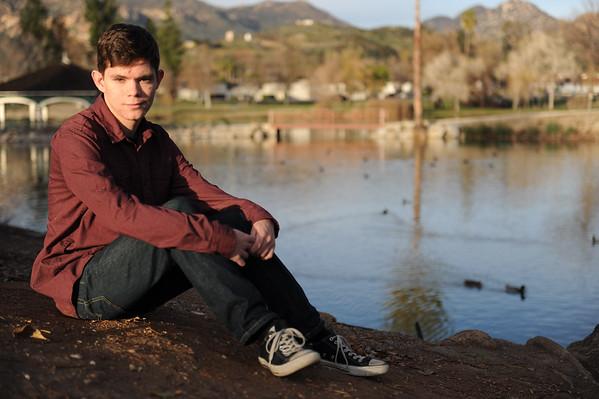 January 22, 2015; Lakeside, CA; Travis Bishop Senior Photos