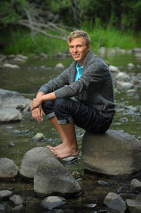 We created a  casual look for this Waterford High School Senior. This is something you could find in a LLBean or similar catalogue.