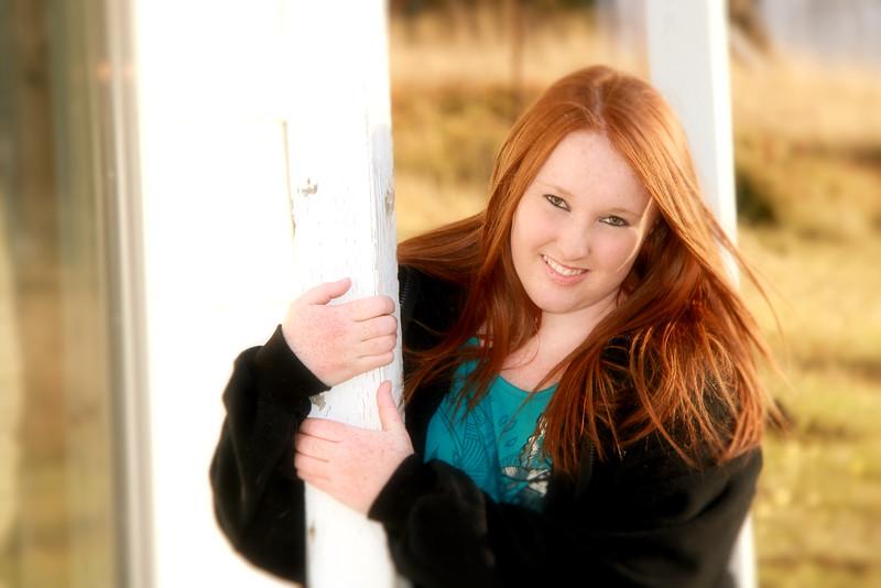 Jess hands on porch post