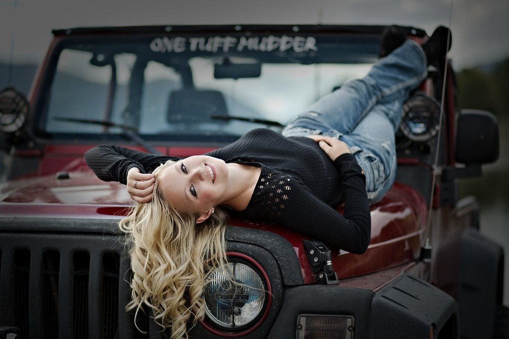 relaxing on the jeep