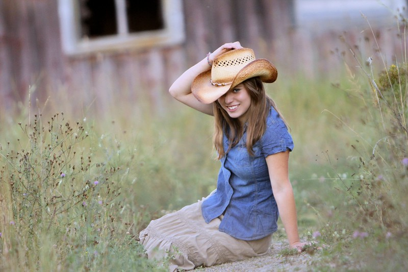 One of my favorites with her cowgirl hat