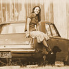 Love this vintage shot of Charlette and her 61 valiant