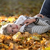 Lying in the leaves