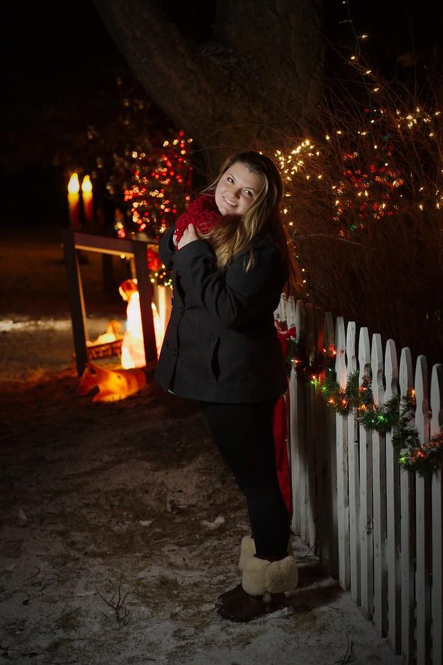 Night shot with the Christmas Lights