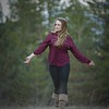Walking across the meadow