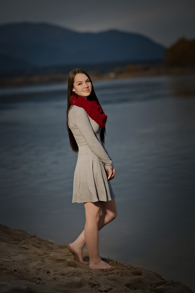 Bare foot at the river