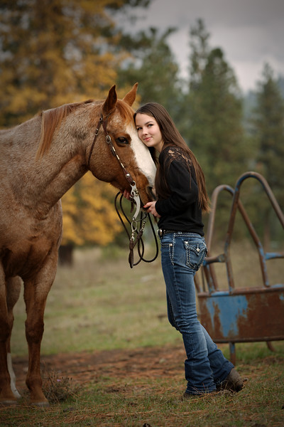 standing shot with her horse