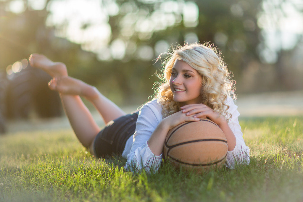 basket ball shot on the grass