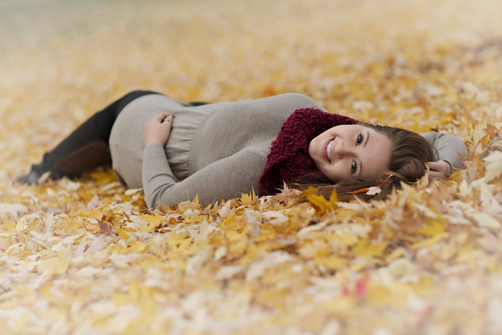 Bed of fall leaves