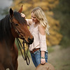 Such a beautiful shot with her horse