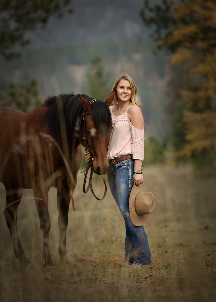 full length shot with her horse
