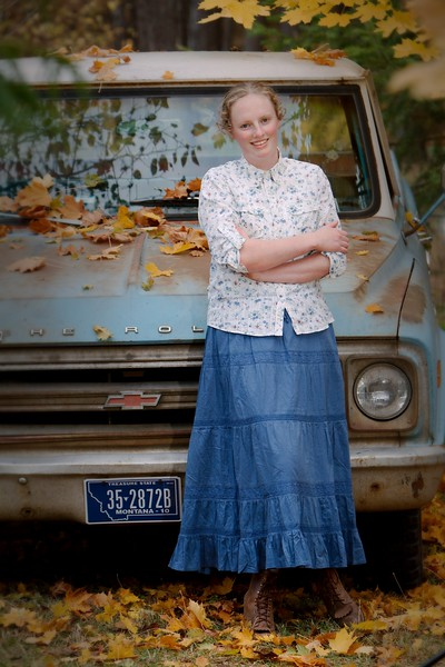 our clasic old blue chevy shot , goes great with ruthies blue eyes