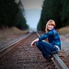 evening shot on the tracks