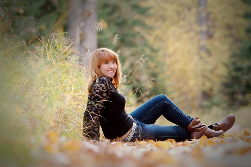 Sitting in the leaves   Nice look sam