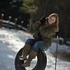 cute shot on the tire swing