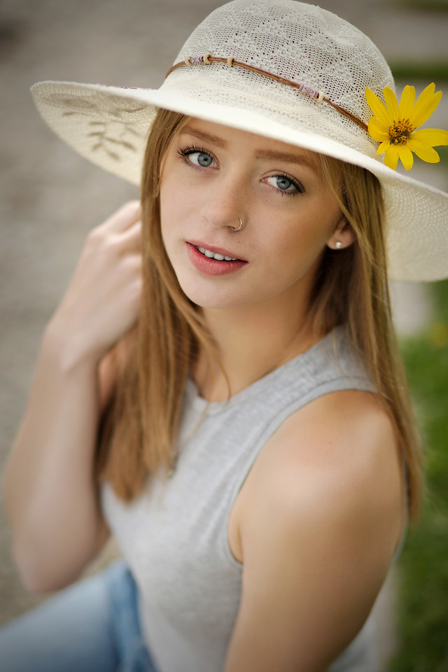 Another one of my favorites with the sunflower and hat