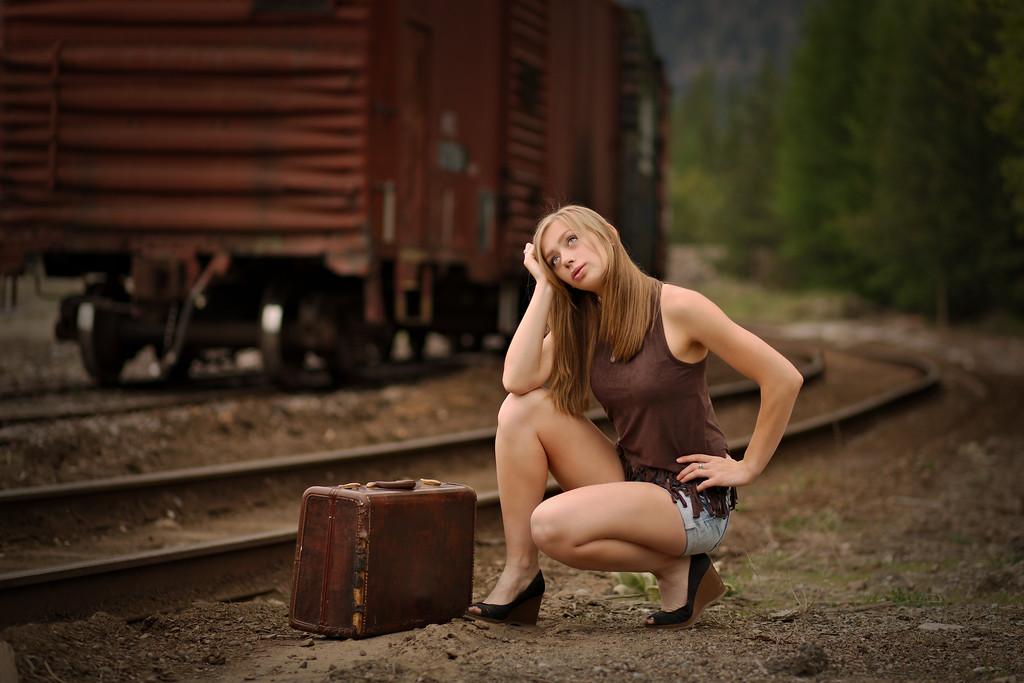 Retro shot with the Train car