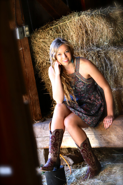 Sitting in the old barn