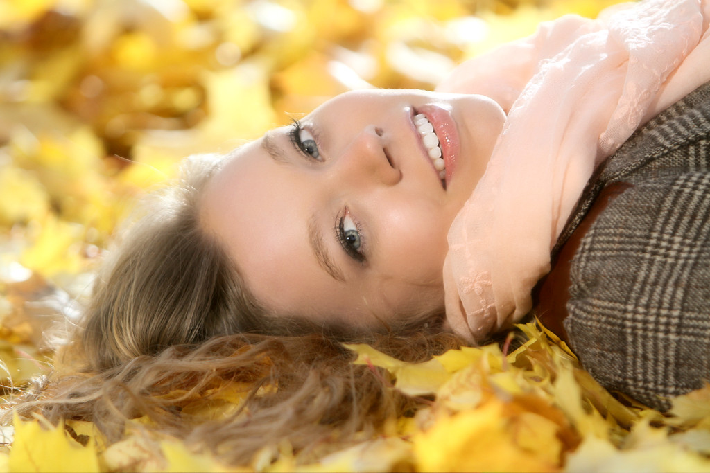 Shasta Makes laying down on a nice bed of fall leaves look easy, but im sure it took at least some effort