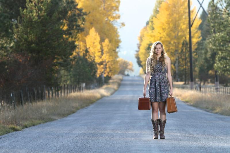 Suit case's in hand, bever creek road