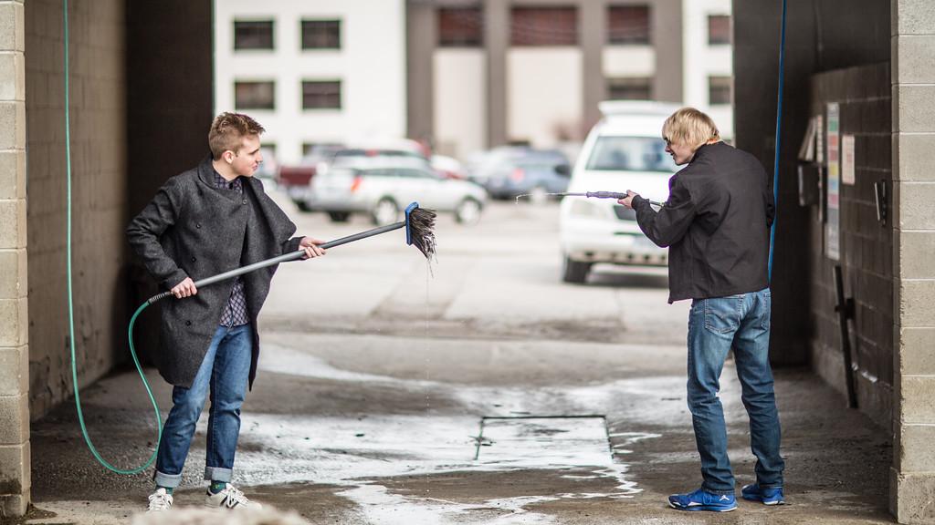 shoot out at the car wash