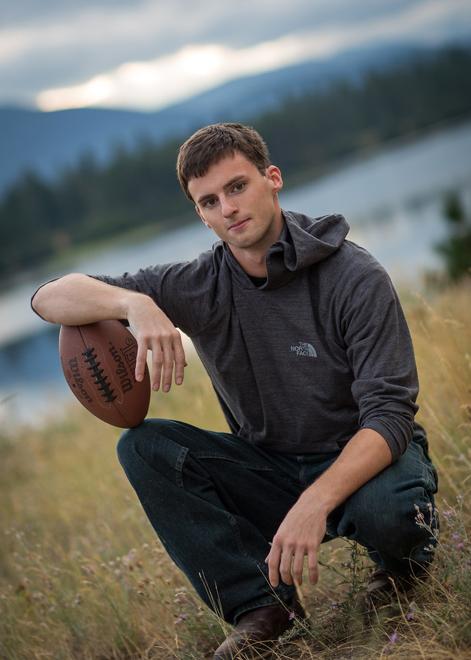 relaxed shot with football