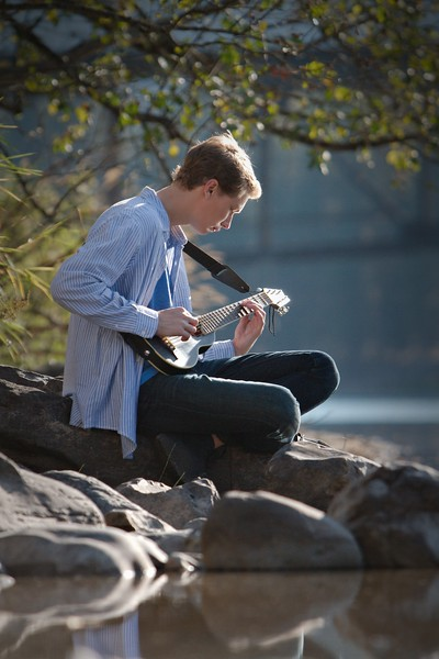 peaceful shot on the river bank